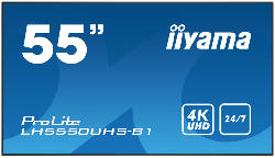 Digital Signage Display PROLITE LH5550UHS-B1 mit 24/7 Betriebszeit 55 Zoll 4K UHD