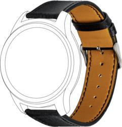 Armband für Samsung / Garmin, Echtleder in schwarz