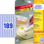 MediaMarkt Universal-Etiketten, 25,4 x 10 mm, 30 Bogen/5.670 Etiketten, weiß (L4731REV-25)