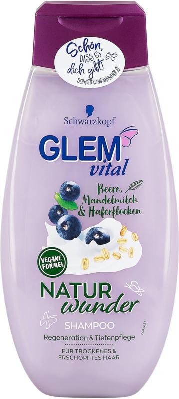 Glem vital Naturwunder Shampoo Beere Mandelmilch & Haferflocken