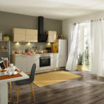 Möbelix Einbauküche Küchenblock Möbelix Win/Plan B: 280 cm Hellgrau/Wildeiche