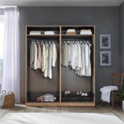 Kleiderschrank Offen 182,2cm Unit, Weiß Dekor