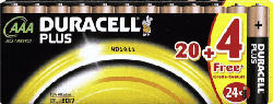 Plus Power Alkaline AAA Batterien, 24er Pack (LR03/MN2400)