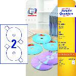 Saturn CD-Etiketten SuperSize, Ø 117 mm, 25 Bogen/50 Etiketten, weiß (L7676-25)