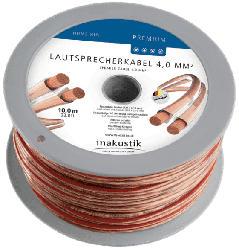 Premium Lautsprecherkabel 4.0 mm² Minispule 10 m, transparent