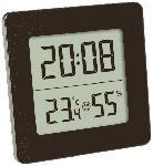 Saturn Digitales Thermo-Hygrometer, schwarz