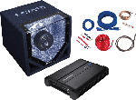 Saturn CPX750.1 Bass Paket inkl. Endstufe + Subwoofer 750 Watt max, schwarz