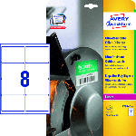 Saturn Ultra-Resistente Folien-Etiketten,99,1 x 67,7 mm,10 Bogen/80 Etiketten,weiß(L7914-10)