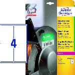 Saturn Ultra-Resistente Folien-Etiketten, 99,1 x 139 mm,10 Bogen/40 Etiketten,weiß(L7915-10)
