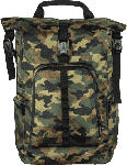 "Saturn Notebook Rucksack 15.6"" Active Line Roll-Top, camouflage/grün (00101820)"