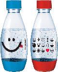 Saturn Duopack aus 2. 0.5 l Flaschen der Kids Edition in Blau und Rot