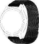 Saturn Armband für Garmin VIVOMOVE/VIVOACTIVE3 mesh black