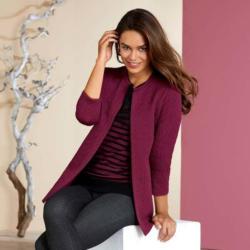 Damen-Blazer mit trendigem Stepp-Effekt