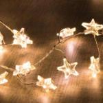 NKD LED-Lichterkette mit hübschen Sternen, ca. 150cm - bis 11.04.2020