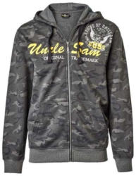 Herren-Sweatjacke in trendiger Camouflage-Optik