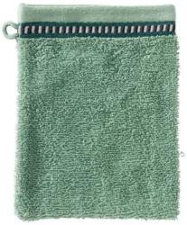 Waschhandschuh mit trendiger Bordüre, 16x21cm