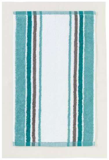 Gästetuch mit trendigem Streifendesign, 30x50cm
