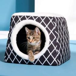 Katzenhöhle mit herausnehmbarem Wendekissen, ca. 40x40x34cm
