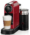 Saturn Nespresso Kaffeemaschine CitiZ & Milk XN 7615 Cherry Red