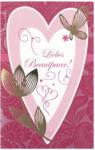LIBRO Billet Hochzeit - Liebes Brautpaar!, rot/rosa/gold