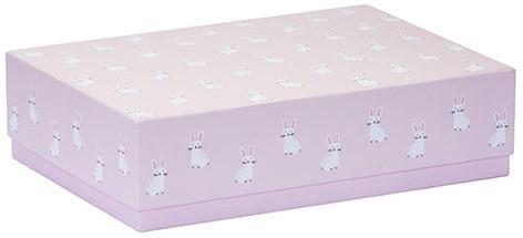 Geschenkbox - Baby: Hasen, rosa, XXXS