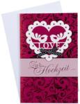 LIBRO Billet Hochzeit - LOVE Zur Hochzeit die besten Wünsche, rot