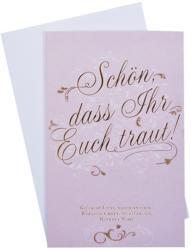 Billet Hochzeit - Schön, dass ihr euch traut, rosa