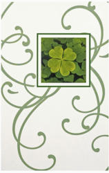 Grußkarte - Kleeblatt