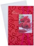 LIBRO Billet Hochzeit - Zur Hochzeit die herzlichsten Glückwünsche, rot