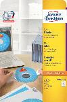 Saturn CD-Etiketten, Ø 117 mm, Zentrierhilfe, 25 Bogen/50 Etiketten (L6015-25)