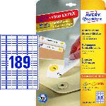 Saturn Universal-Etiketten, 25,4 x 10 mm, 30 Bogen/5.670 Etiketten, weiß (L4731REV-25)