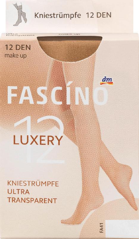 FASCÍNO Kniestrümpfe Luxery 12 den, make up, Gr. 39-42