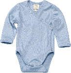 dm-drogerie markt ALANA Baby Wickelbody, Gr. 50/56, in Bio-Wolle und Seide, blau, für Mädchen und Jungen