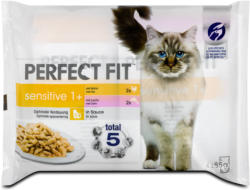 Perfect Fit sensitive 1+ Katzenfutter mit Huhn & Lachs in Sauce