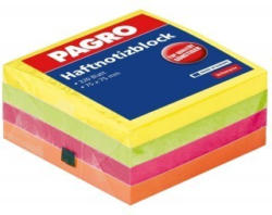PAGRO Haftnotizblock 75 x 75 mm 320 Blatt intensiv