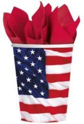 Becher USA 0,26 Liter 8 Stück