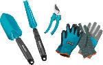 Saturn Grundausstattung Garten Set 4-tlg + Handschuhe (M)