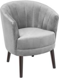 Sessel in Holz, Textil Grau