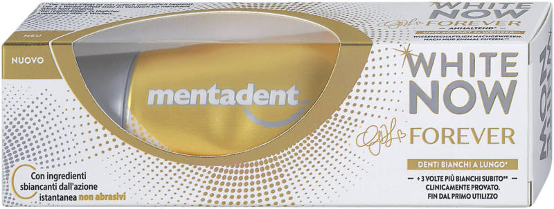 mentadent Zahncreme White Now Forever