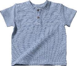 ALANA Kinder Shirt, Gr. 104, in Bio-Baumwolle, blau, weiß