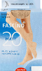 FASCÍNO 2er Pack Kniestrümpfe matt 20 den, champagner, Gr. 35-38