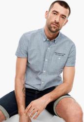 Regular: Kurzarmhemd mit Stitching