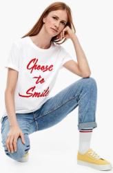 T-Shirt mit Statement-Stickerei