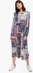 Paisley-Kleid mit Rüschen-Details