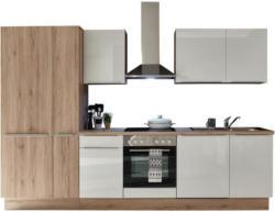 Einbauküche Küchenblock Möbelix Paul 310cm Eiche Dekor/Weiß