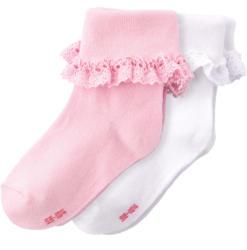2 Paar Baby Socken mit Rüschen (Nur online)