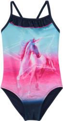 Mädchen Badeanzug mit Pferde-Print (Nur online)