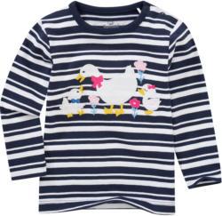 Baby Langarmshirt mit Enten-Applikation
