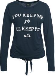 Damen Langarmshirt mit U-Boot-Ausschnitt