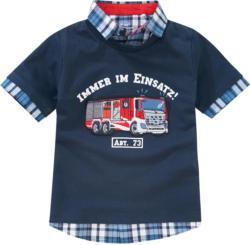 Jungen Poloshirt mit Feuerwehr-Applikation